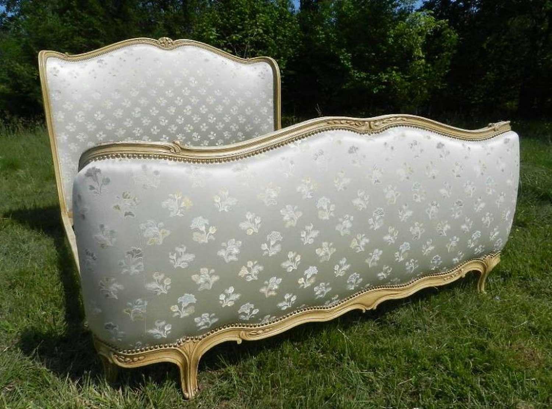 Vintage French Lit Corbeille 5ft  King Size + base Louis XV rev