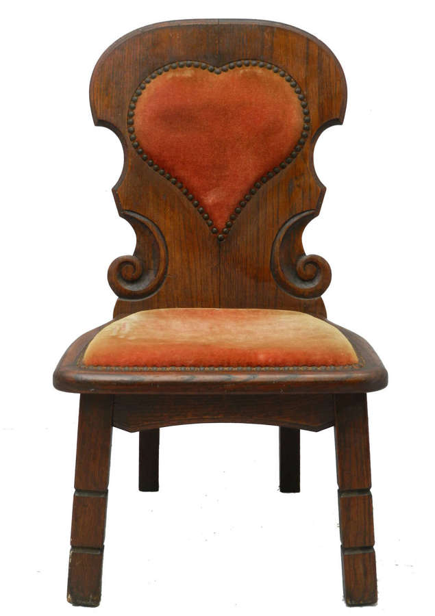 Midcentury Four Basque Chairs Spain Upholstered Hearts Sold Individual