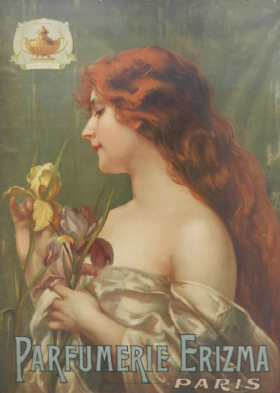 Paris Perfume Advertising Poster Wall Plaque Erizma Belle Epoque